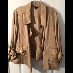 Ann Taylor Short Trench Style Jacket